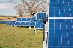 太阳农厂公园 在绿色领域,能承受的可再造能源的盘区 图库摄影