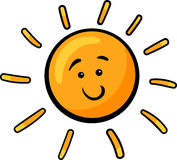太阳剪贴美术动画片例证 免版税库存图片