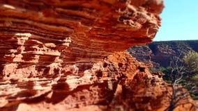 太阳升峡谷墙壁 库存照片