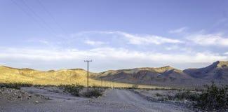 太阳升起在Searles谷Califronia 库存图片