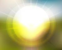 太阳升起太阳集合迷离 库存图片