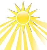 太阳发出光线象商标 免版税库存图片