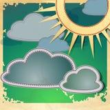 太阳和云彩。 库存图片