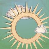 太阳和云彩。 免版税库存图片