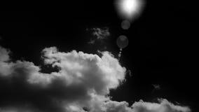 太阳和云彩的红外图象 免版税库存照片