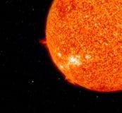 太阳和地球。 图库摄影