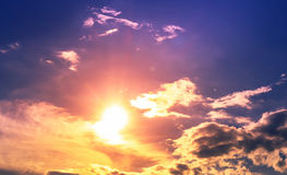 太阳和天空 库存照片