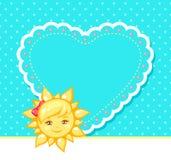太阳和心脏的例证 图库摄影