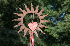 太阳和心脏 免版税图库摄影