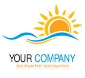 太阳和水 免版税图库摄影