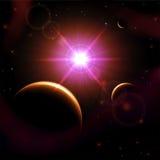 太阳和行星 免版税库存照片