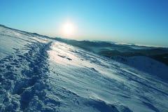 太阳和雪 免版税库存图片
