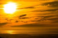 太阳和风 库存图片