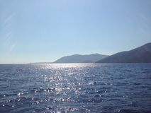 太阳和水 免版税库存照片