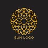 太阳商标象略写法设计元素 库存照片