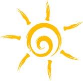 太阳商标 皇族释放例证