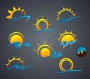 太阳商标 免版税库存照片