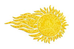 太阳商标 免版税图库摄影