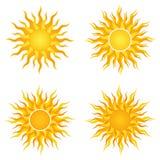 太阳商标 库存图片