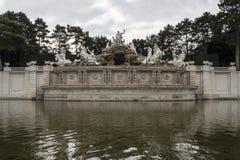 太阳喷泉 免版税图库摄影
