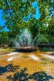 太阳喷泉 库存图片