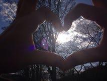 太阳在我的心脏 免版税库存照片