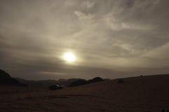 太阳在沙漠 免版税图库摄影