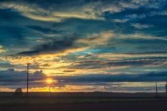 太阳在Nightless夜 免版税图库摄影