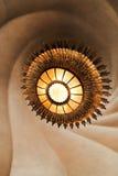 太阳型天花板灯在住处Batlo,巴塞罗那 免版税库存图片