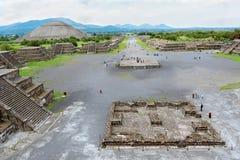 太阳墨西哥的金字塔 免版税库存图片