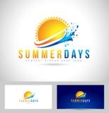 太阳夏天商标 图库摄影