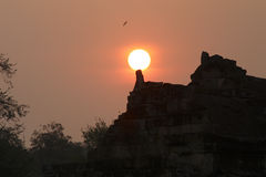 太阳套吴哥窟早晨,柬埔寨 库存图片
