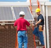 太阳安装的面板 免版税库存照片