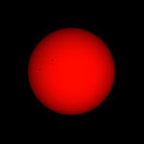 太阳察觉范围视图 库存照片