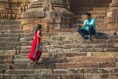 太阳寺庙,印度 库存图片