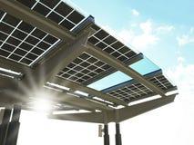 太阳工厂的次幂 库存图片