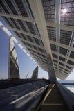 太阳巴塞罗那巨型的面板 免版税库存照片