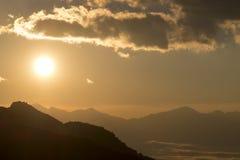 太阳微明 库存照片