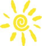 太阳徽标 库存照片
