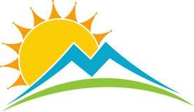 太阳徽标 免版税库存照片