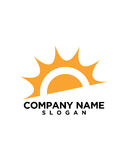 太阳成为业务保险摘要的伙伴 免版税图库摄影