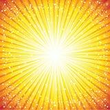太阳抽象背景的照明 免版税库存照片