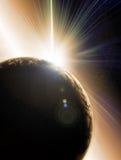 太阳抽象蚀的例证 库存照片
