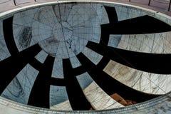 太阳拨号盘,时间测量仪器 库存照片