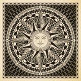 太阳指南针 免版税库存照片