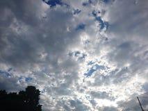 太阳掩藏 库存图片
