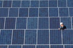 太阳收集的面板 免版税库存照片