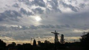 太阳早晨 库存照片