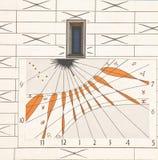 太阳时钟在慕尼黑,德国 免版税库存图片