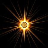 太阳星形 库存例证
